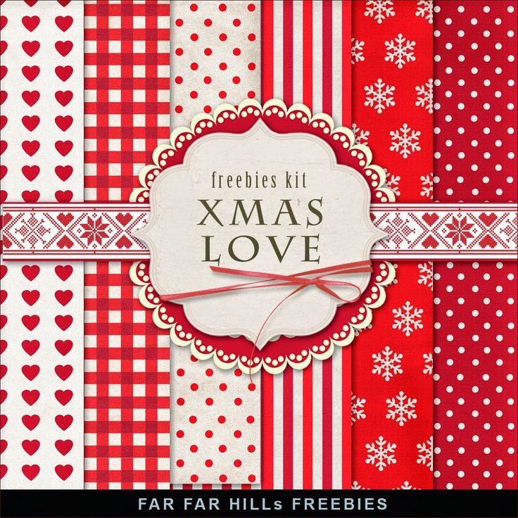 FREE Freebies Kit of Winter Backgrounds - Xmas Love By Far Far Hill