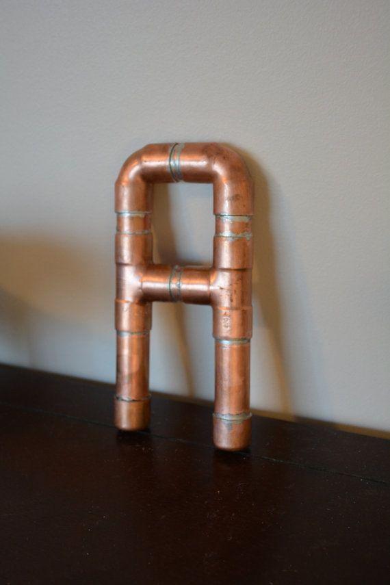 Copper Pipe Letter - Custom Wedding Baby Decor Letter on Etsy, $25.00