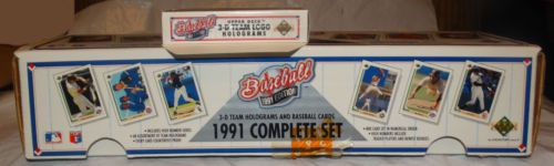 1991-Complete-Set-of-Baseball-Cards-W-3D-Holograms-Included