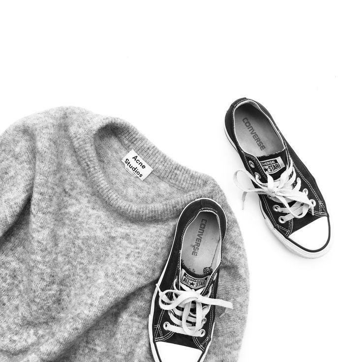 Acne Studios Knit and Converse via OVRSLO. #acnestudios #converse #ovrslo #flatlay
