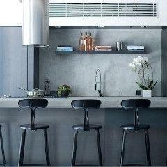 Nicolle Barstool - Matte Black #barstool #furniture #industrialstyle #madeinfrance #modern #customised #colours #interiordesign