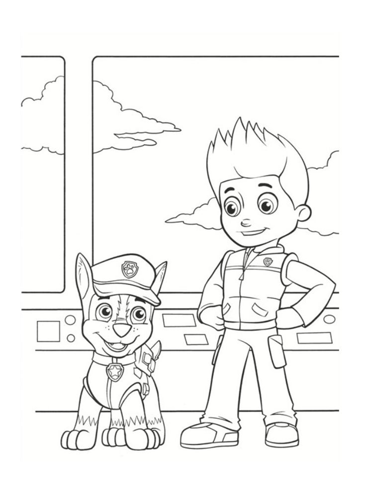41 best paw patrol images on pinterest paw patrol coloring books and coloring pages - Coloriage pat patrouille ...