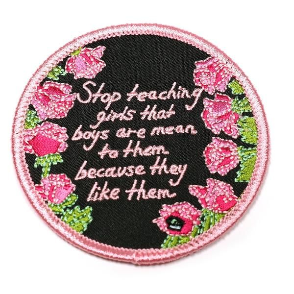 "Another feminist statement from King Sophie that we can all get behind - ""Stop teaching girls that boys are mean to them because they like them"".  A machine emb"