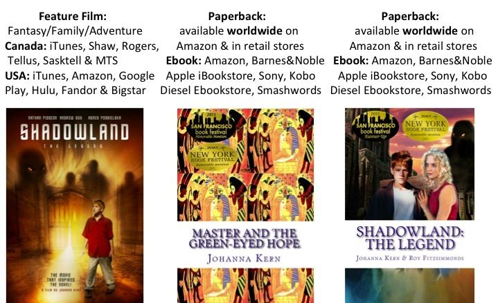 New poster for Shadowland: The Legend film and new covers for the books