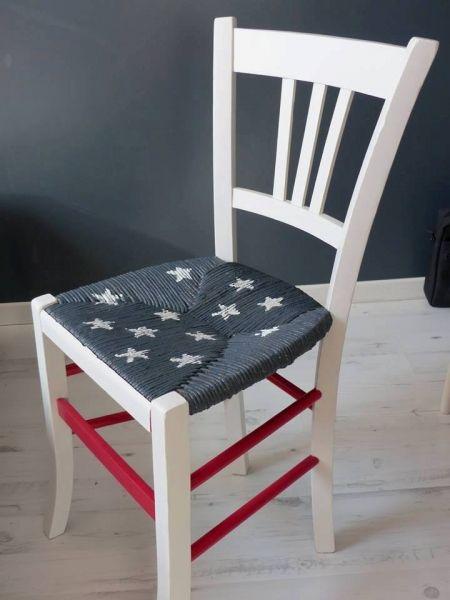 Satinelle Blanc – Anthracite- Rouge passion-Pochoir Pluie d'étoiles