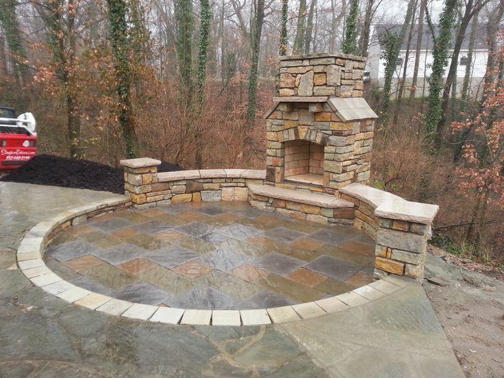 Paver Patio, Natural Stone, Seating Wall, Outdoor Fireplace, Reading Rock,  Brick Patio, Pavers, Pergola, Patio, Stone Columns, Pillars, Dayton, Cinu2026
