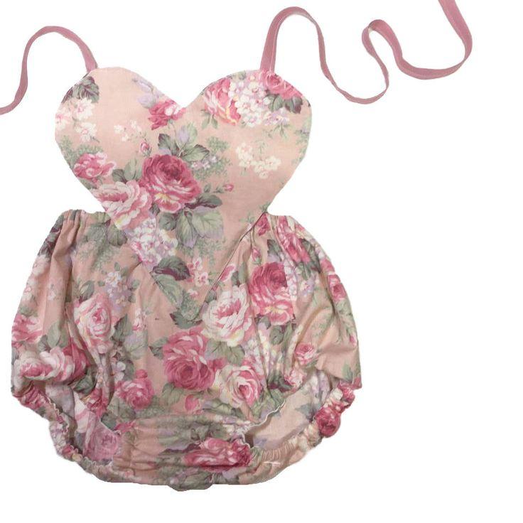 Boho Romper Romper, Floral Baby Romper, Baby Romper, Boho Toddler Romper, Girls Babydoll …   – Baby Rompers