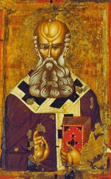 St Athanasios. Late 14th c. - early 15th c. Kastoria Byzantine museum, Kastoria, Greece.