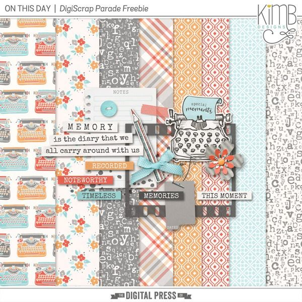 Monday's Guest Freebies ~ Kim B. Designs ✿ Follow the Free Digital Scrapbook board for daily freebies: https://www.pinterest.com/sherylcsjohnson/free-digital-scrapbook/ ✿ Visit GrannyEnchanted.Com for thousands of digital scrapbook freebies. ✿
