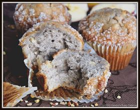 Perfect snack, or breakfast easy homemade Banana & Apple Nut Muffins