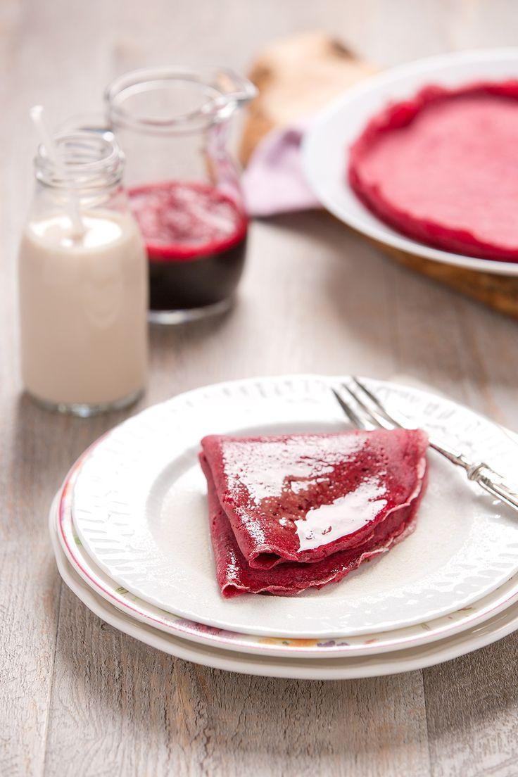 Vegan glutenfree buckwheat beetroot crepes for valentines day | Crepes al grano saraceno e barbabietola senza glutine senza uova #vegan rapa rossa