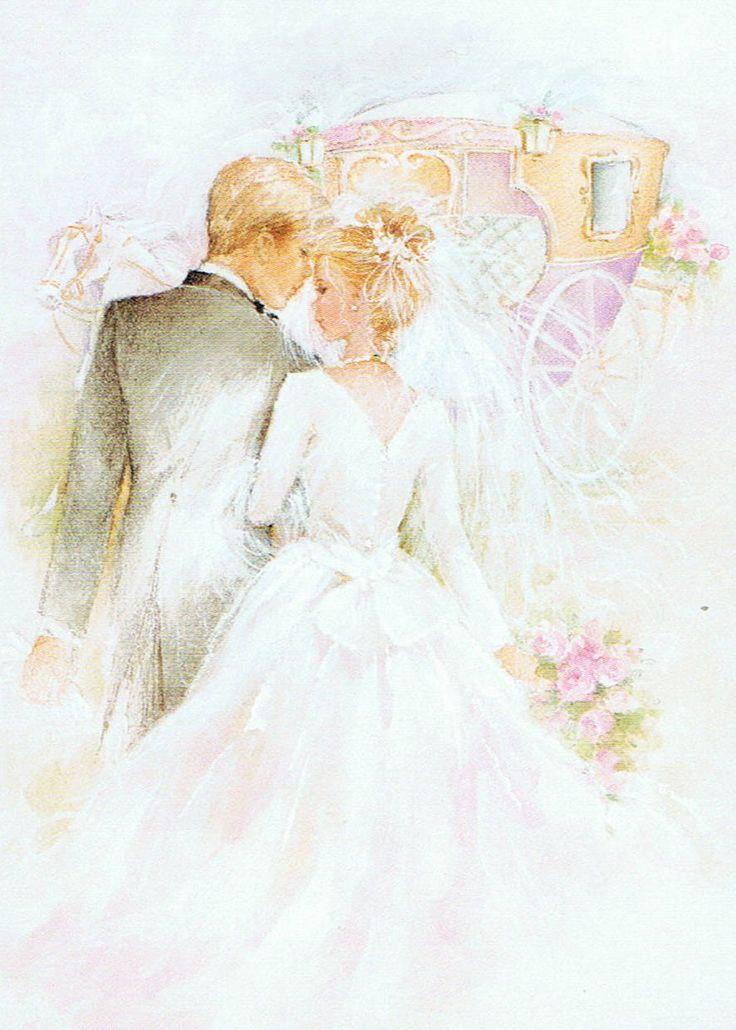 Месяц рождения, открытка свадебная жених и невеста