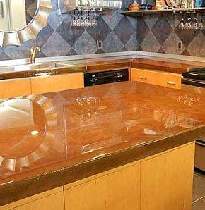 Concrete Countertops. Stained ...