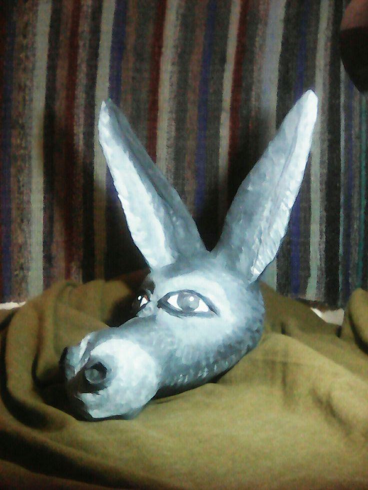 Donkey head, side view