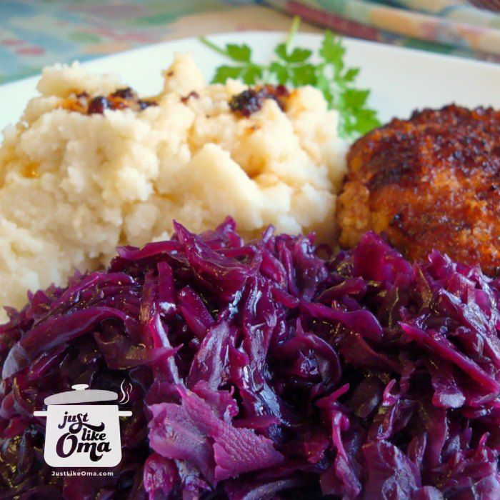 German red cabbage http://www.quick-german-recipes.com/red-cabbage-recipes.html is such a traditional side dish that fits with most German meals.