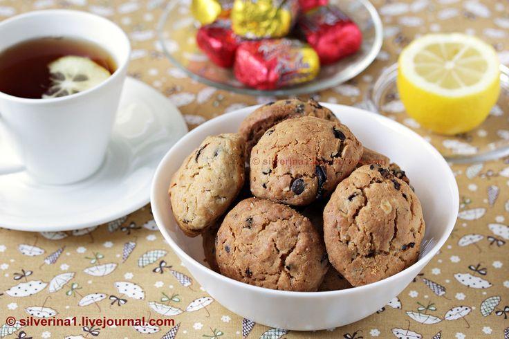 Печенье с финиками, орехами, овсяными хлопьями и шоколадом - П И Щ Е Б Л О Г. О еде и не только