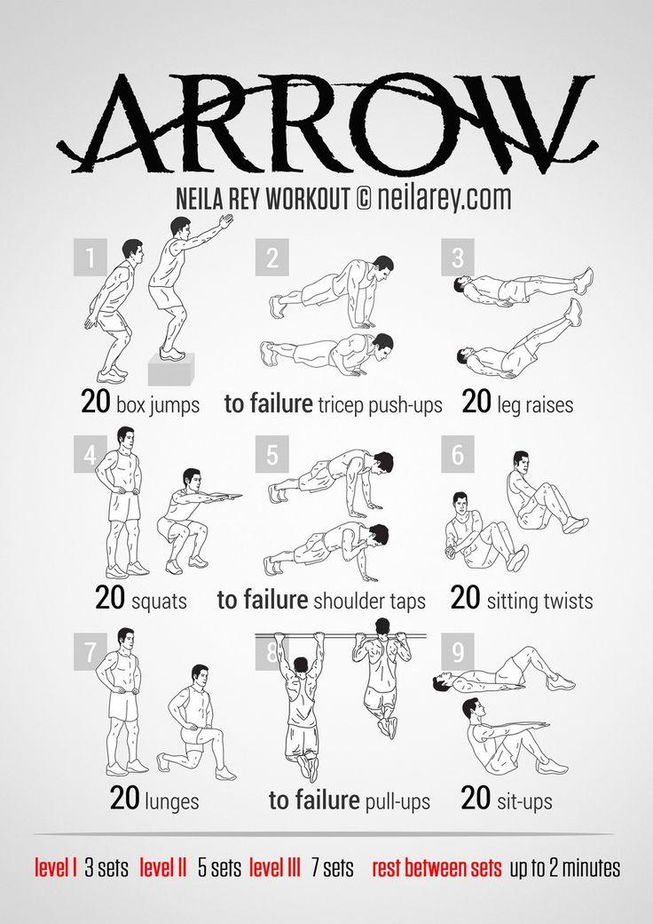 Arrow Workout | neilarey.com | #fitness #bodyweight