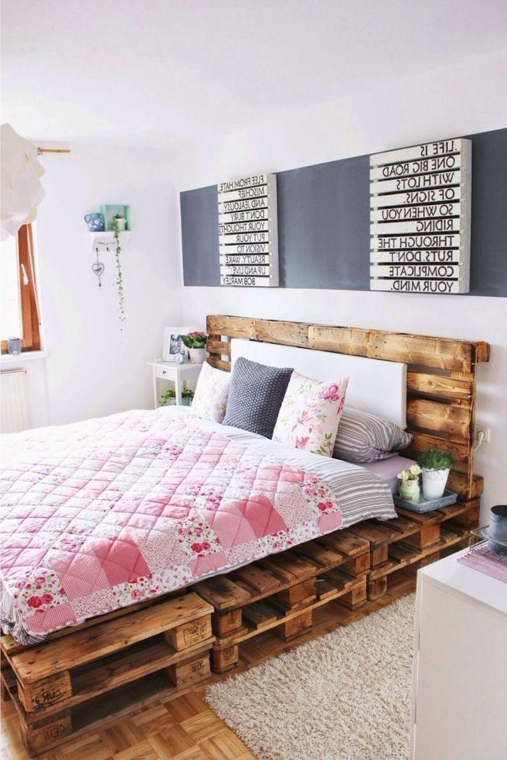 Die 25 besten ideen zu palettenbett auf pinterest palettenbetten und selbstgemachte bettrahmen - Palettenbett ideen ...