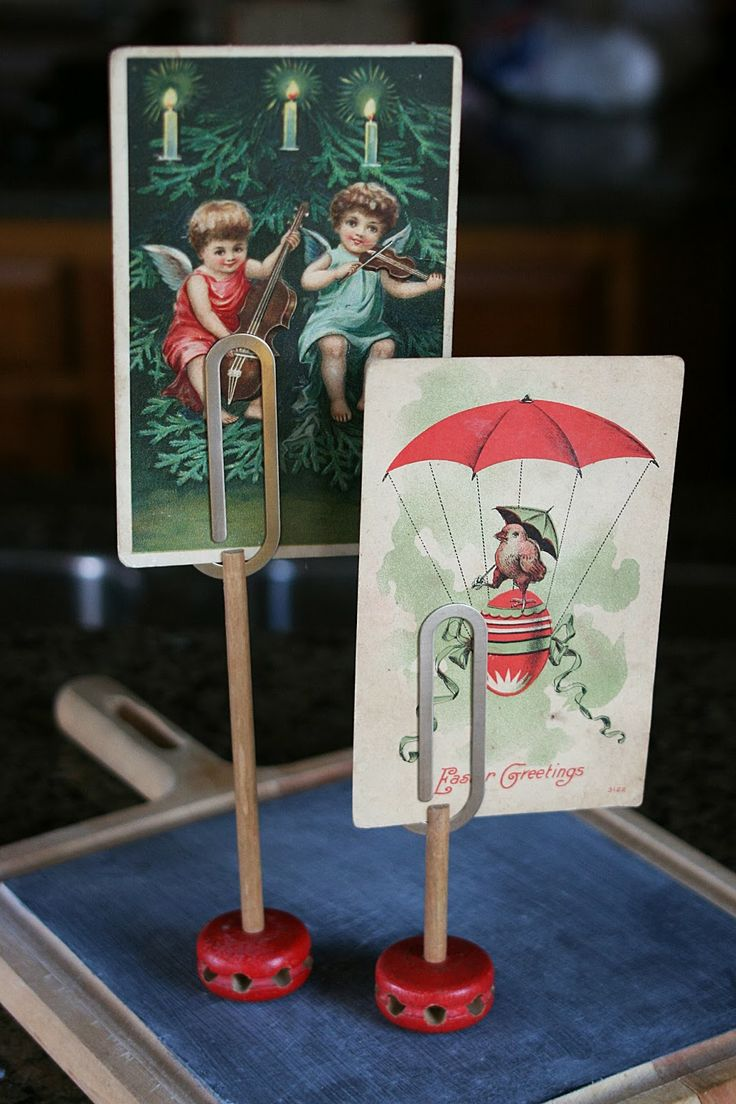 Vintage wooden music stand book stand by vintagearcheology on etsy - Simple Paper Clip Photo Holder Tinker Toys Clips From Walmart