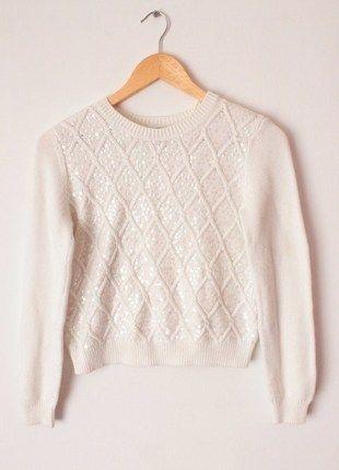 Kup mój przedmiot na #vintedpl http://www.vinted.pl/damska-odziez/bluzy-i-swetry-inne/12635656-sweter-z-cekinami-hm-s-sliczny