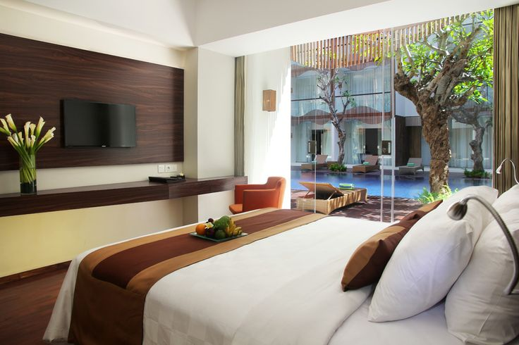 King Bedroom of Pool Access Room at The Bene. #balihotels #bali #hotel #kuta http://www.thebenehotel.com/
