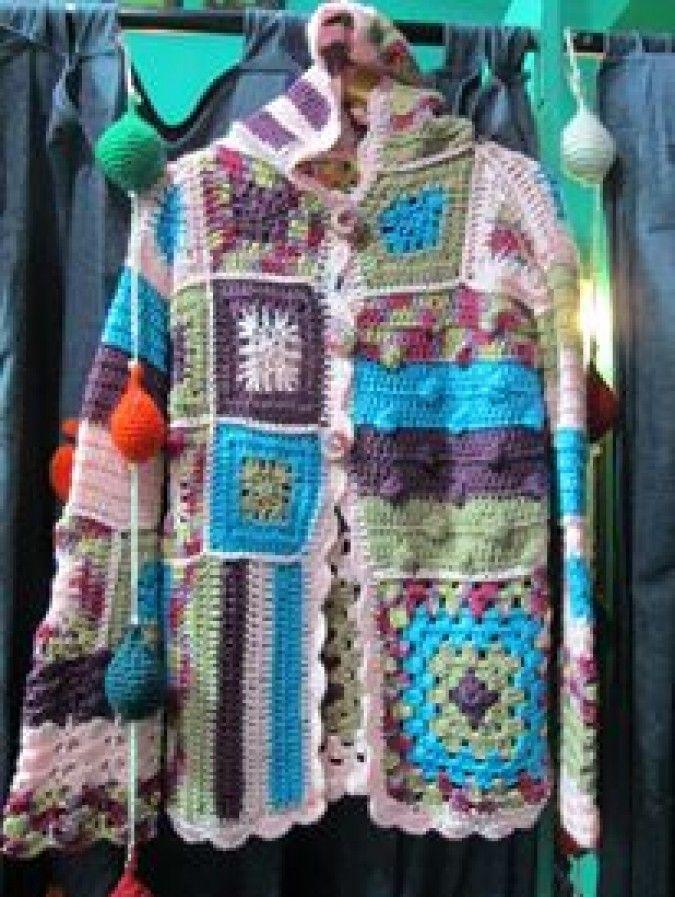 sacos tejidos al crochet con capucha - Buscar con Google