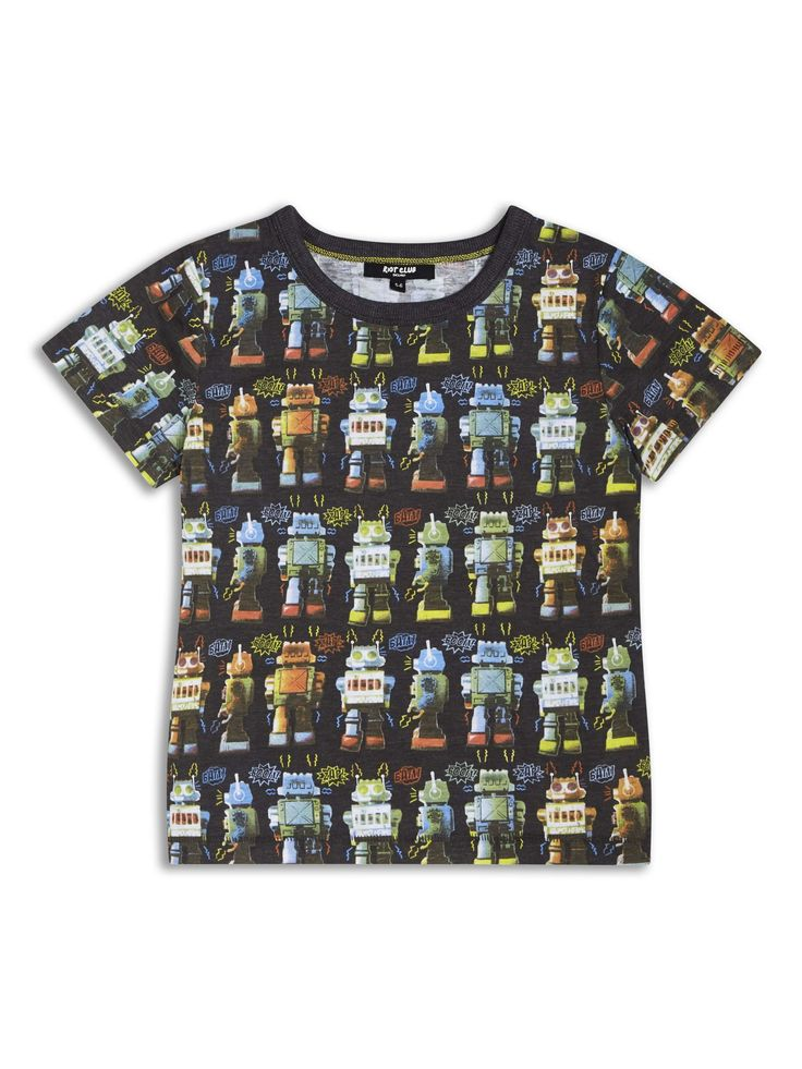 Boys Boutique Black Cool Noisy Robot T-shirt - Baby Boutique Shop #robot_tshirt