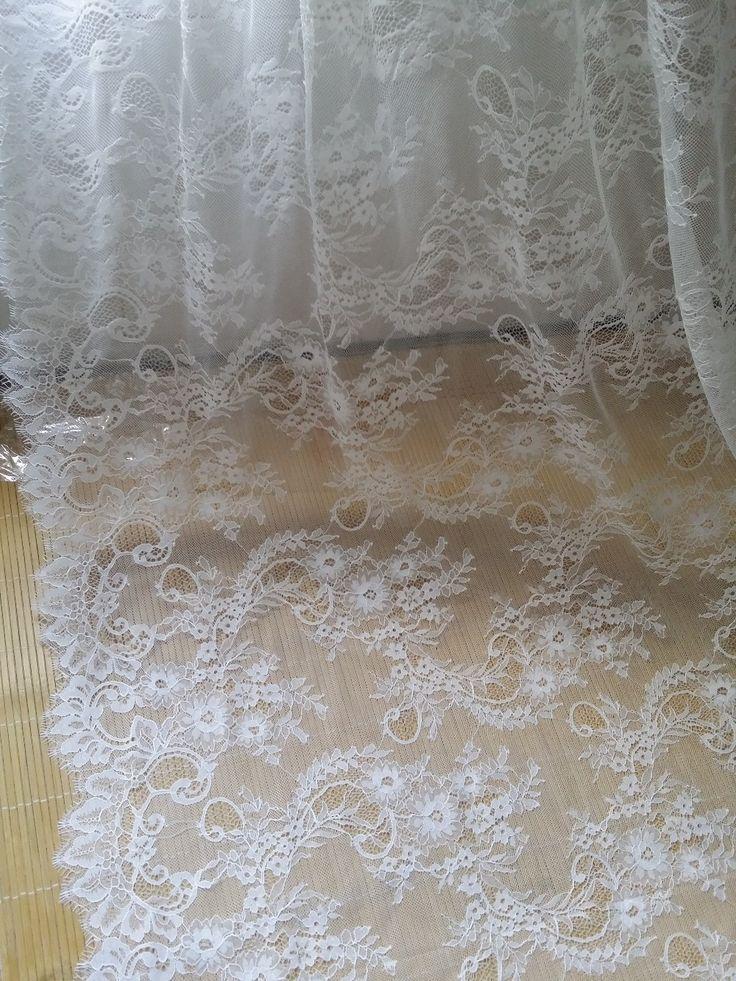 Pas cher 3 M long cils chantilly dentelle traditionnelle de mariage dentelle tissu blanc ivoire hot vente dans le meilleur prix livraison poste de la chine, Acheter  Dentelle de qualité directement des fournisseurs de Chine:            Mariage dentelle tissu                           Top qualité, chaque colis doit être vérifié par lis a