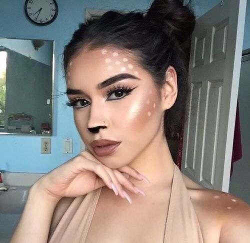 Halloween makeup, deer