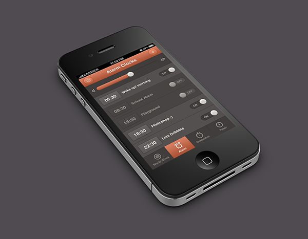 iPhone Alarm Clocks App Design on Behance