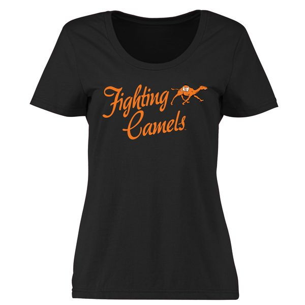 Campbell Fighting Camels Women's Plus Sizes Dora T-Shirt - Black - $24.99