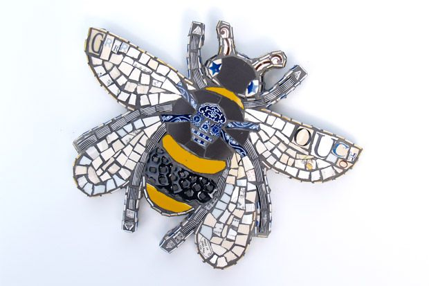 Lovely mosaic bee