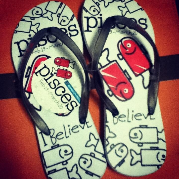 Cool Pisces slippers by Banana Peel Flip-flops