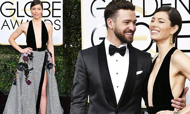 Jessica Biel was entrancing at the 74th Annual Golden Globe Awards as she and her handsome husband Justin Timberlake turned the event into date night.