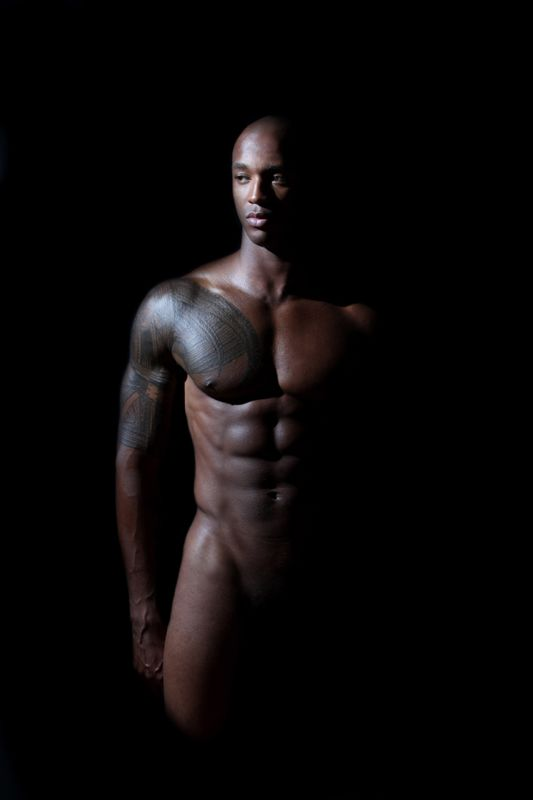 Art nude black male