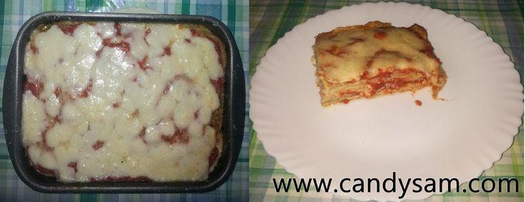 Parmigiana di melanzane con provolone piccante