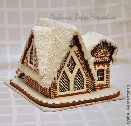 Кулинарные сувениры ручной работы. Ярмарка Мастеров - ручная работа Терем Деда Мороза - большой пряничный домик. Handmade.
