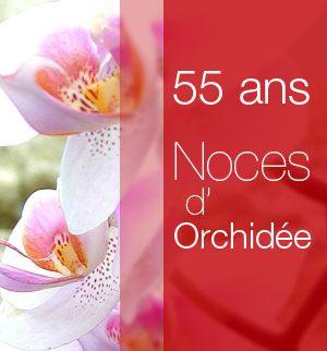 55 ans Noces de Orchidée
