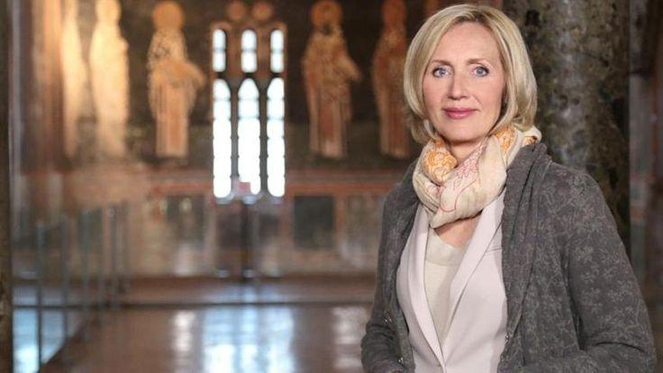 Petra Gerster in der Chora-Kirche in Istanbul Honorarfrei - nur für diese Sendung bei Nennung ZDF und Tom Kaiser