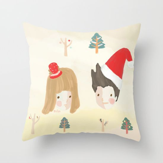 All I want for Christmas throw pillow by Miba :)