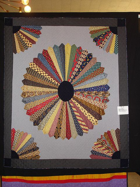 tie quilt  - I wish I had saved all my dad's ties