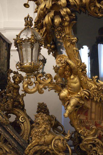 Carriage detail  Marstallmuseum. Schloss Nymphenburg, Munich