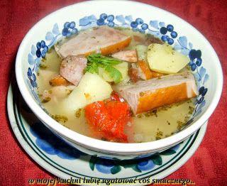 W Mojej Kuchni Lubię.. : zupa żurkowo-kiełbaskowa na ostro...