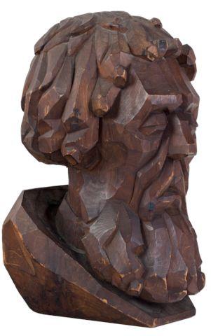 Bust in cubist idiom | Aukce obrazů, starožitností | Aukční dům Sýpka