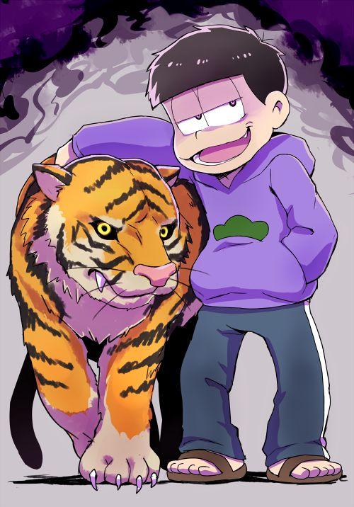 おそ松さん Osomatsu-san 虎を手懐ける一松