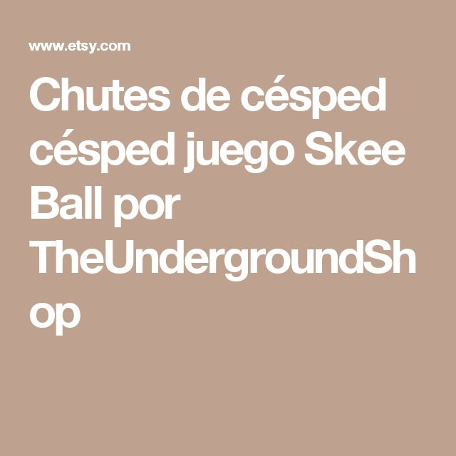 Chutes de césped  césped juego Skee Ball por TheUndergroundShop