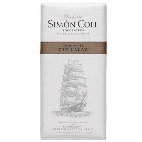 Simon Coll 85g. Ciocolata neagra 70% cacao FARA GLUTEN