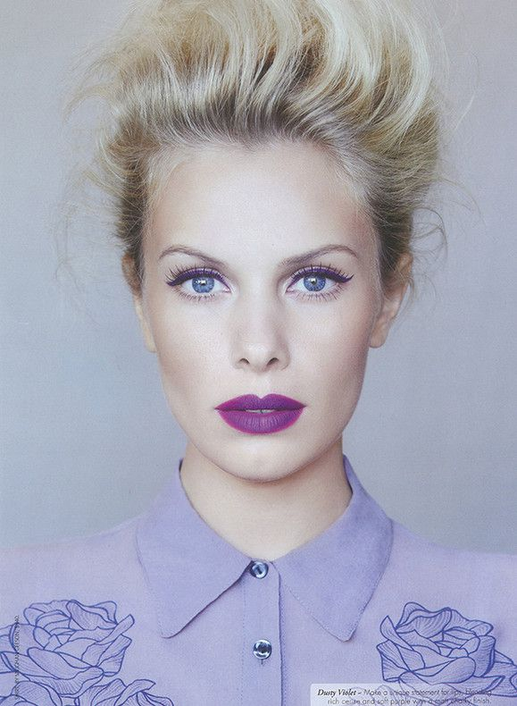 Jana Beller with radiant orchid lips
