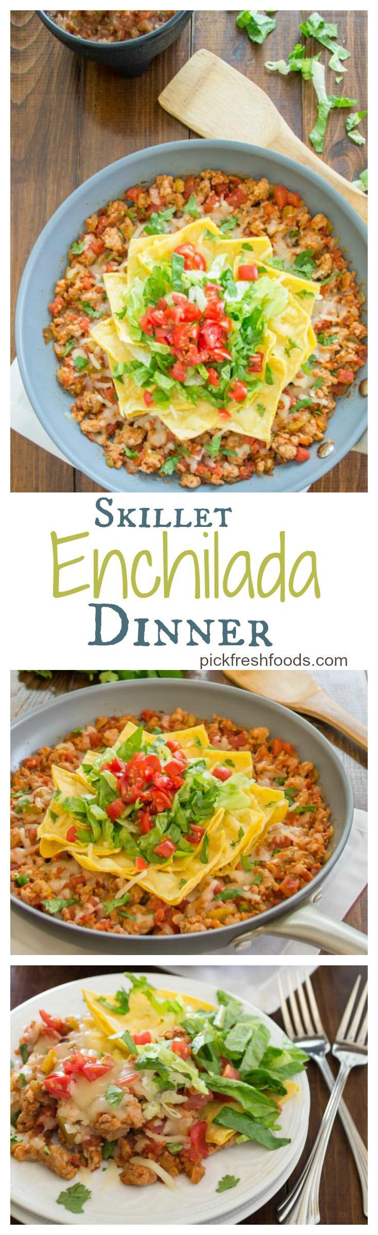 Skillet Enchilada Dinner...delicious Mexican dinner, full of big fresh flavors.