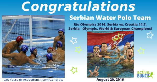 Men's Water Polo Gold Medal Match – Rio Olympics 2016. Serbia vs. Croatia 11:7   Serbia - Olympic, World & European Champions!  Italy won bronze medal in match vs. Montenegro – 12:10  #news #waterpolo #RioOlympics2016 #Rio2016 #Serbia #Srbija #SRB #CRO #MNE #ITA